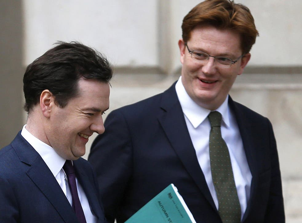 George Osborne with Danny Alexander, Treasury Secretary, this week: the Chancellor presented a mixed bag of a statement