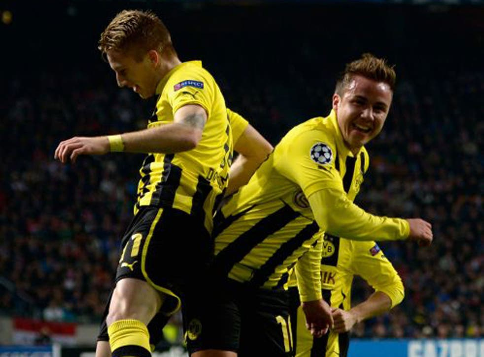 Marco Reus (left) and Mario Götze (right) have made Borussia Dortmund Champions League contenders
