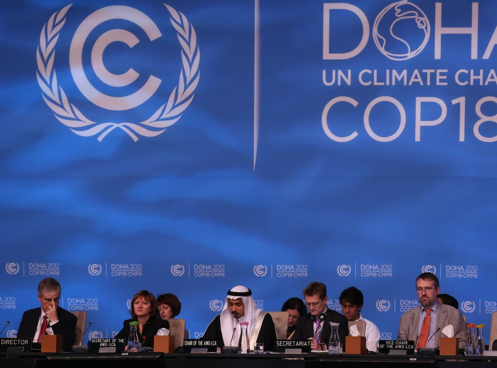 The final day of the Global Climate Change conference in Doha