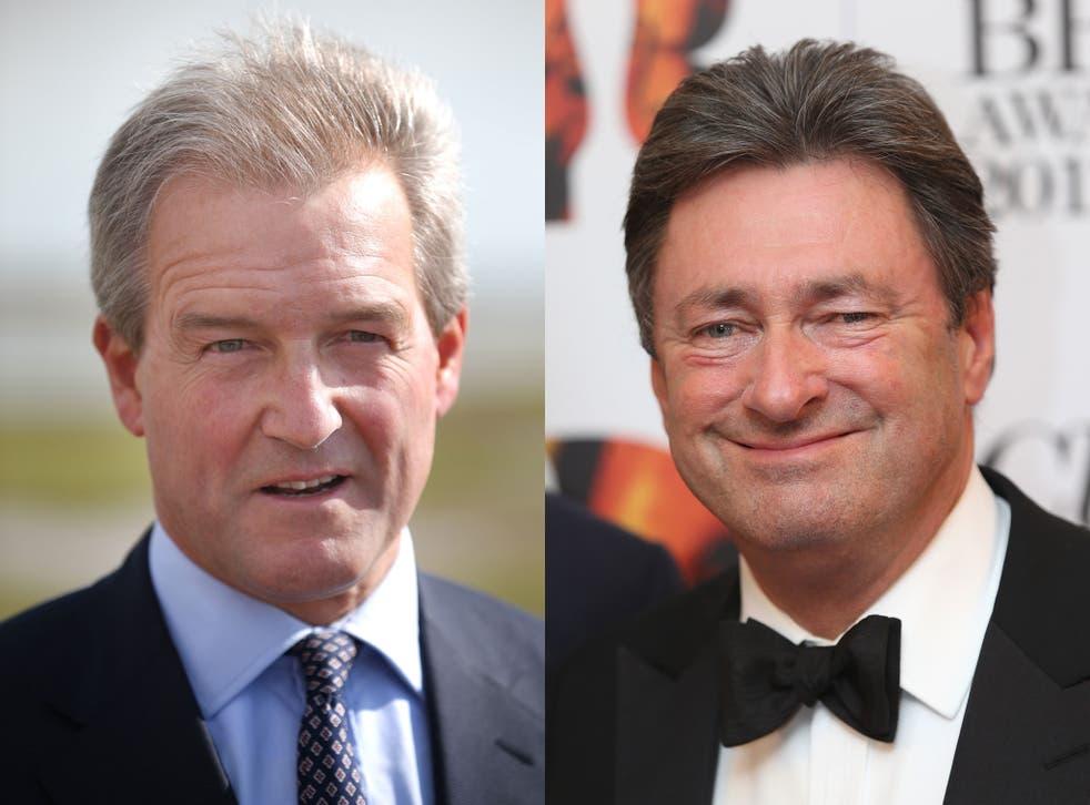 Environment Secretary Owen Paterson, left, and Alan Titchmarsh