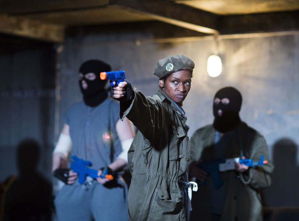 Killer role: Jenny Jules is a fiery Cassius in Phyllida Lloyd's radical  take on Julius Caesar