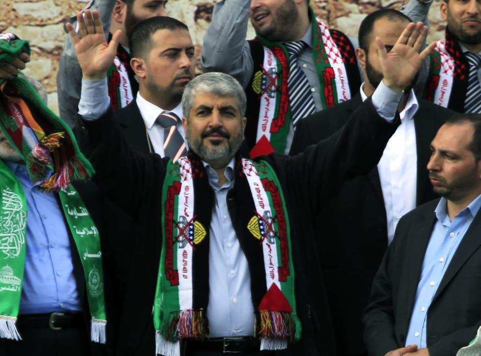 Khaled Meshaa, leader of the Islamic militant group Hamas