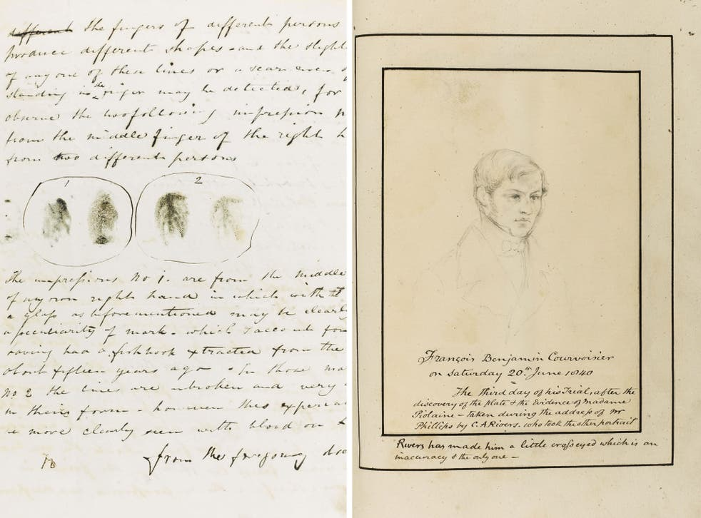 Ahead of his time: The 1840 letter and a sketch of the accused, to be auctioned this week