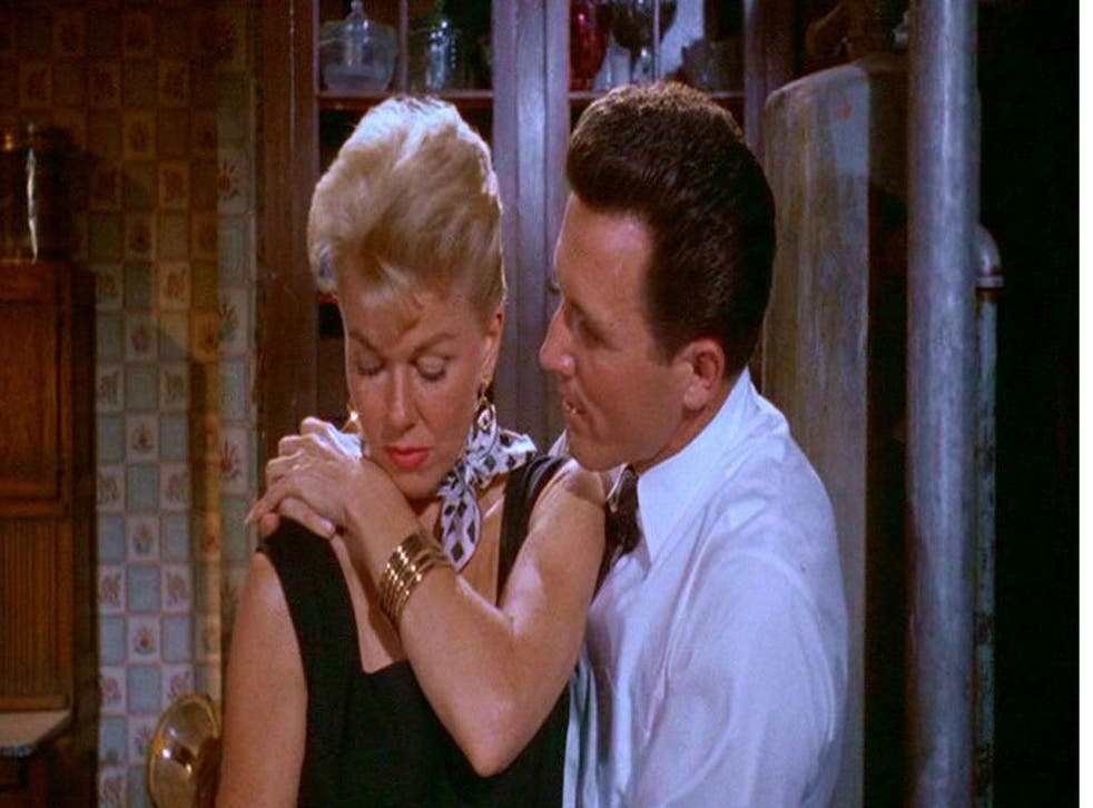 Arm's length: Doris Day and John Raitt in the 1957 romantic comedy The Pajama Game