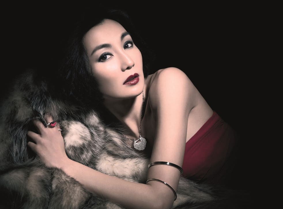 Maggie Cheung who models for Qeelin