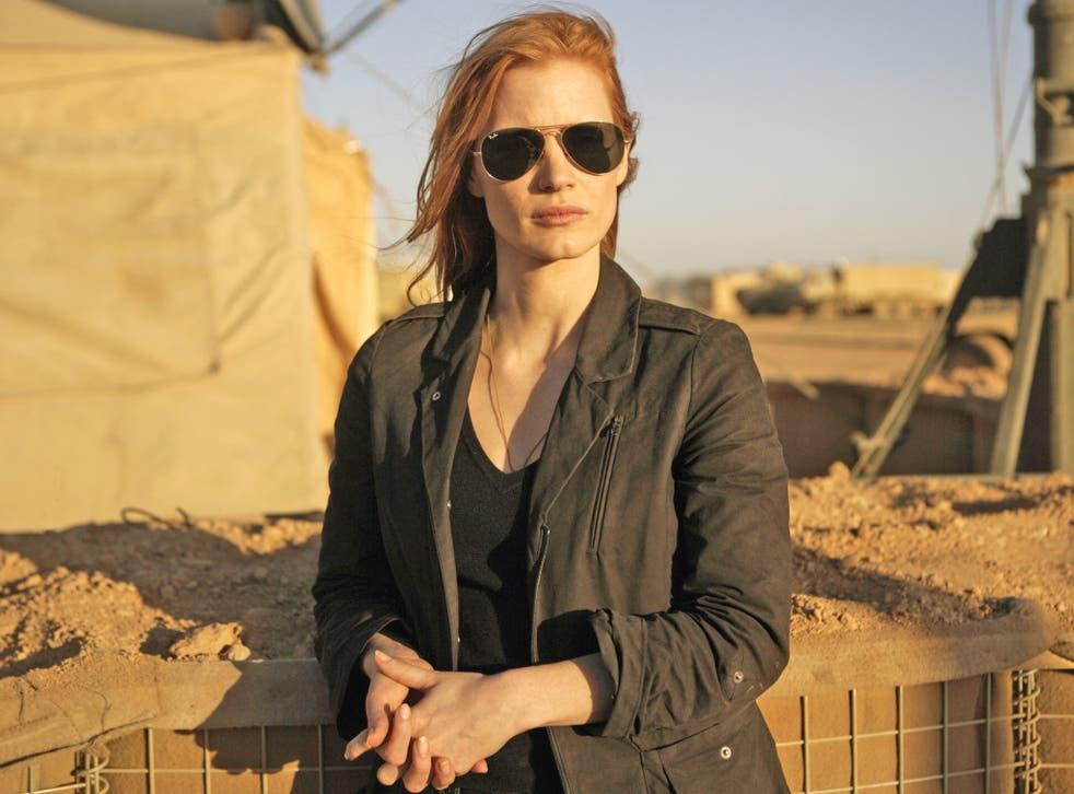 Jessica Chastain plays CIA agent Maya in 'Zero Dark Thirty'