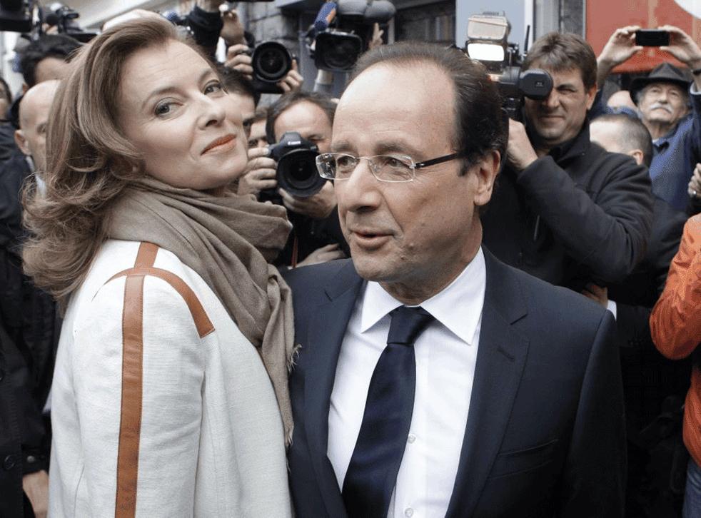 Valérie Trierweiler with her partner, François Hollande
