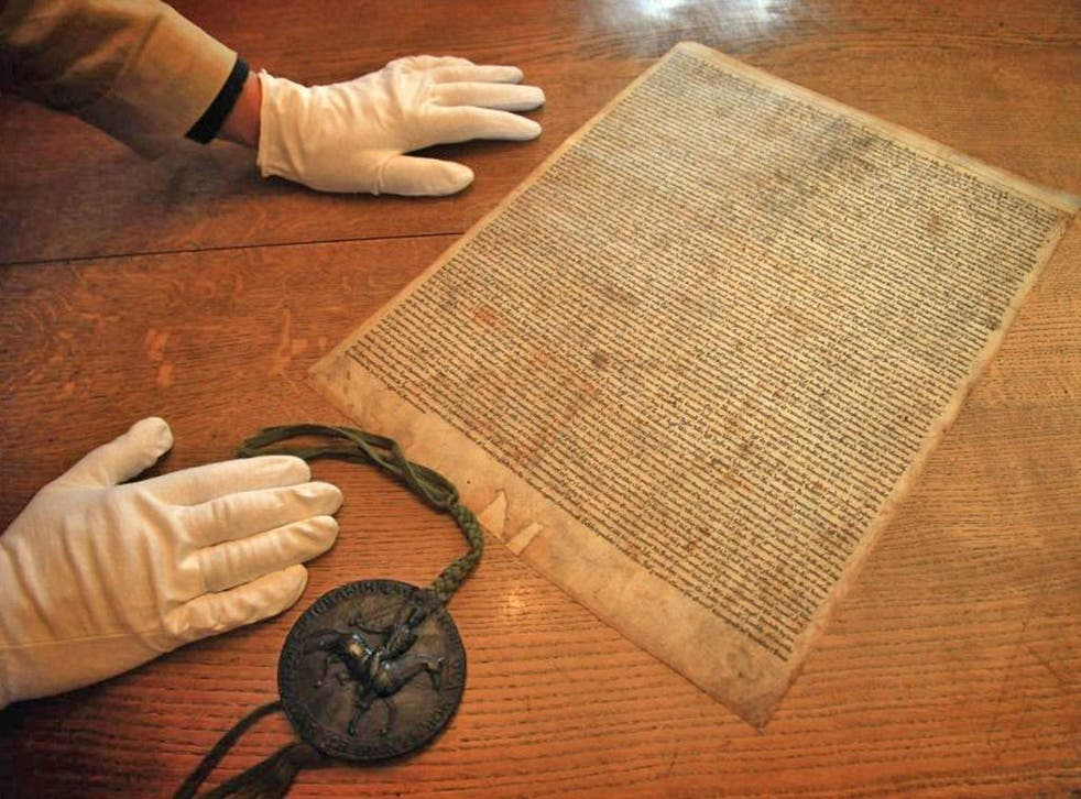 The Magna Carta forced King John to respect laws of the land and guarantee rights to his subjects