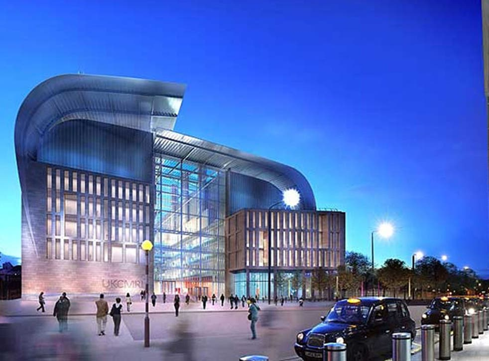 A computer-generated image of the Francis Crick Institute, set to open in 2015 in London.