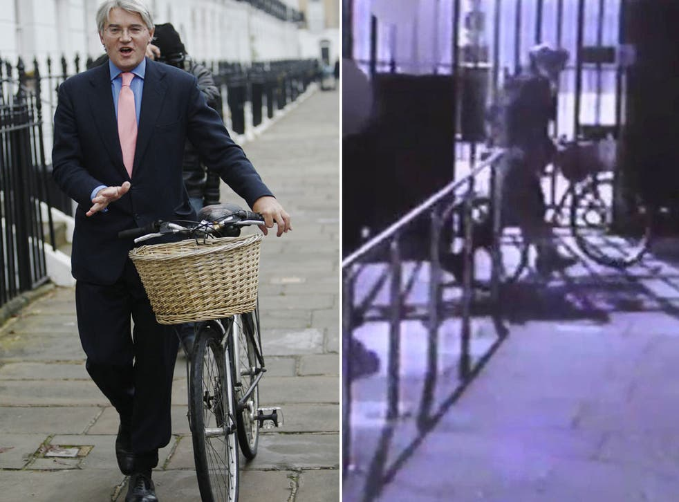 Left: Andrew Mitchell. Right: Nobody matching the description of the off-duty police officer, who claimed to have witnessed the outburst, appears to be present in this CCTV still