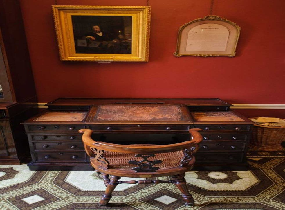 Sacred relic: Dickens's desk at the Museum