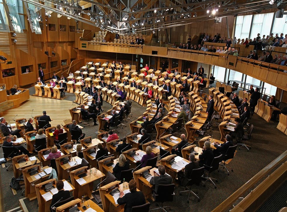 The Scottish parliament, where Labour's influence is waning