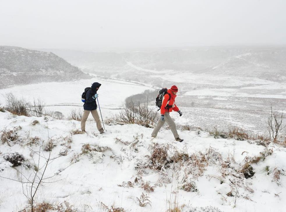 Walking in a winter wonderland: the North Yorkshire Moors