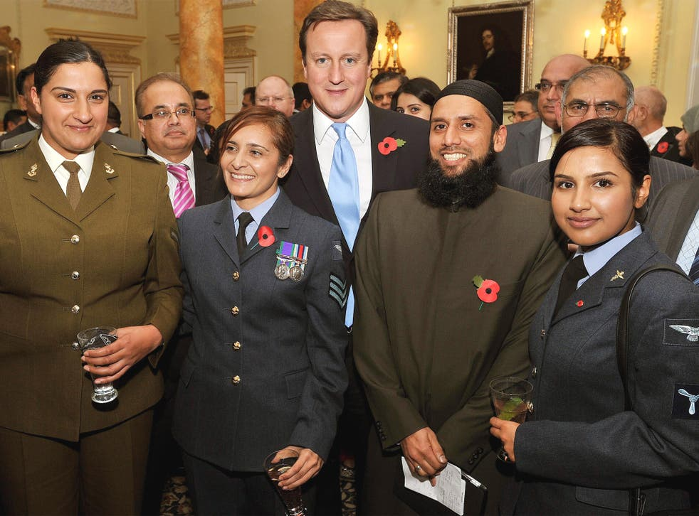 David Cameron joins guests at a reception at No 10 to celebrate Eid in 2011