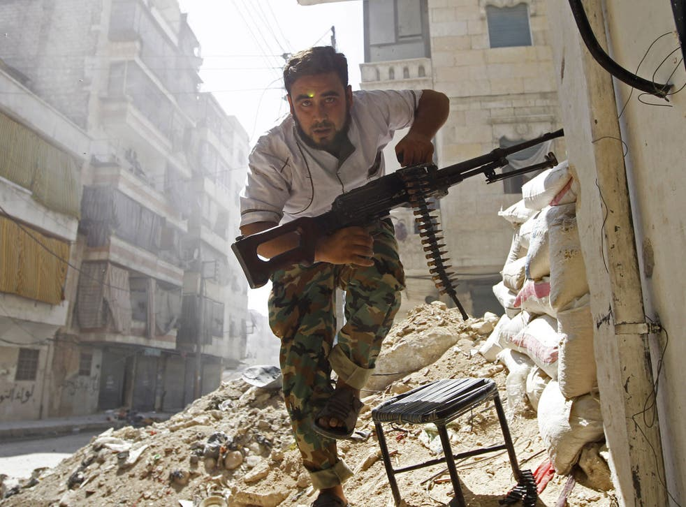 Furies of civil war: The Free Syrian Army still hold enclaves in Aleppo, but is faltering