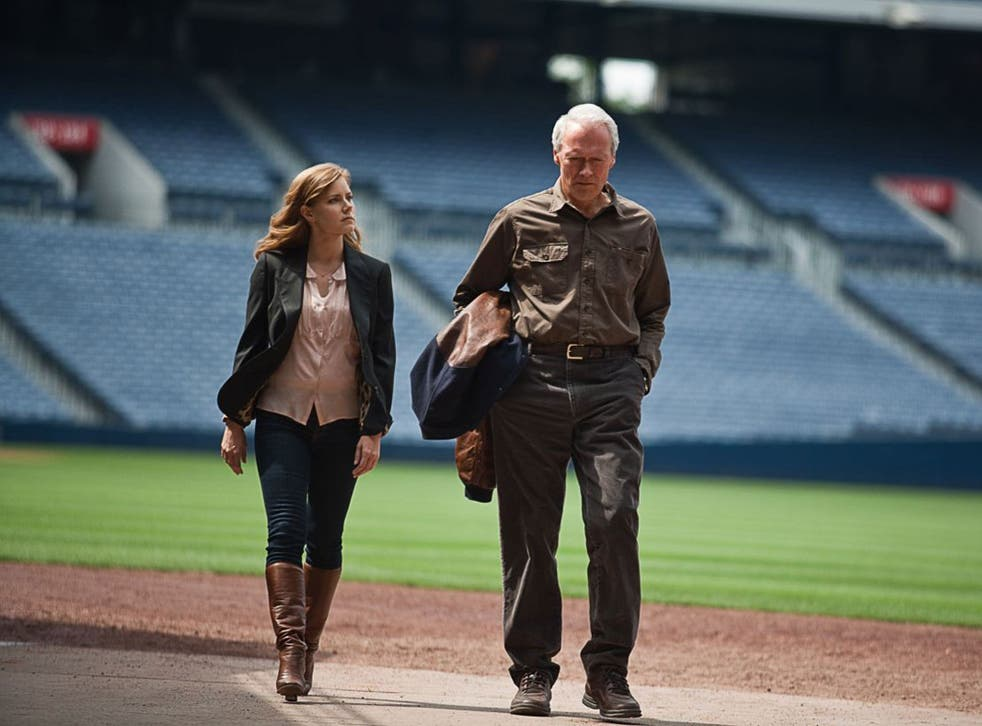 Getting on: Amy Adams and Clint Eastwood in 'Trouble with the Curve'