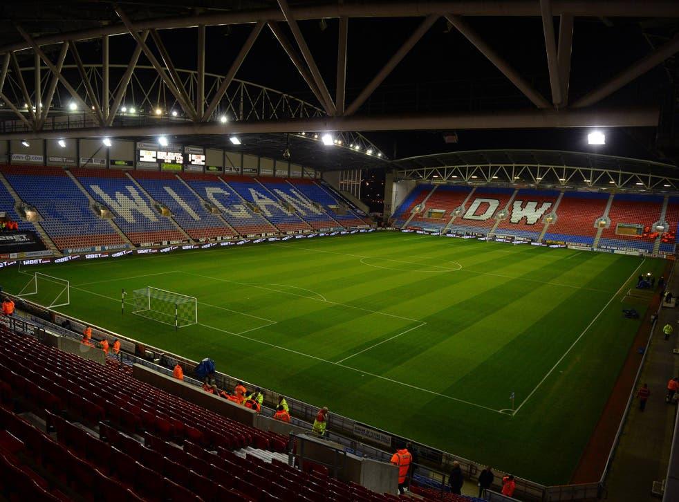 A view of Wigan's DW Stadium