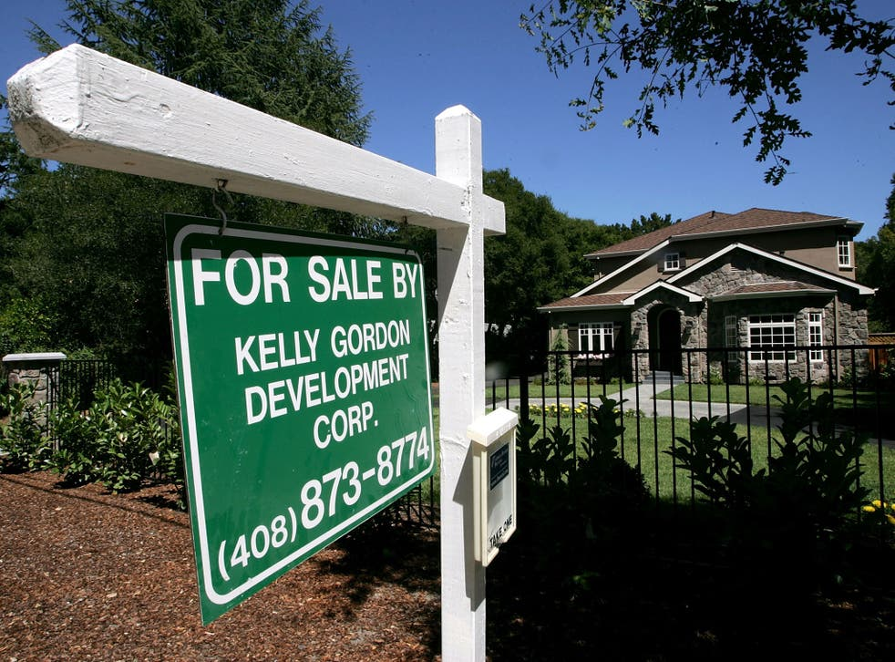 A mansion style home is seen for sale July 12, 2005 in Atherton, California.