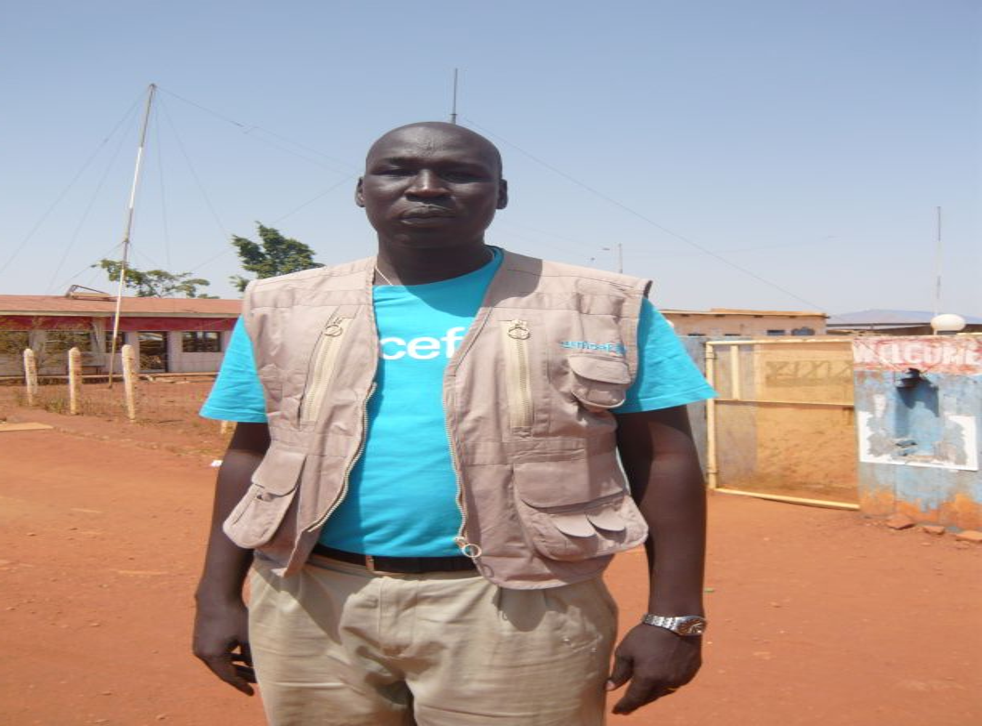 Abraham Kur Achiek, a former child soldier from Sudan who now works for Unicef