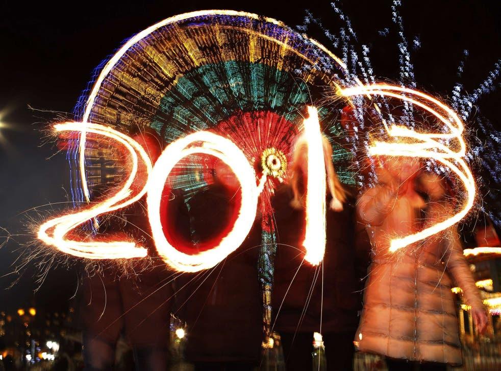 New year street party celebrations in Edinburgh