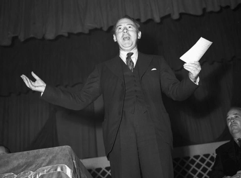 Hugh Gaitskell speaking in Yorkshire 1955