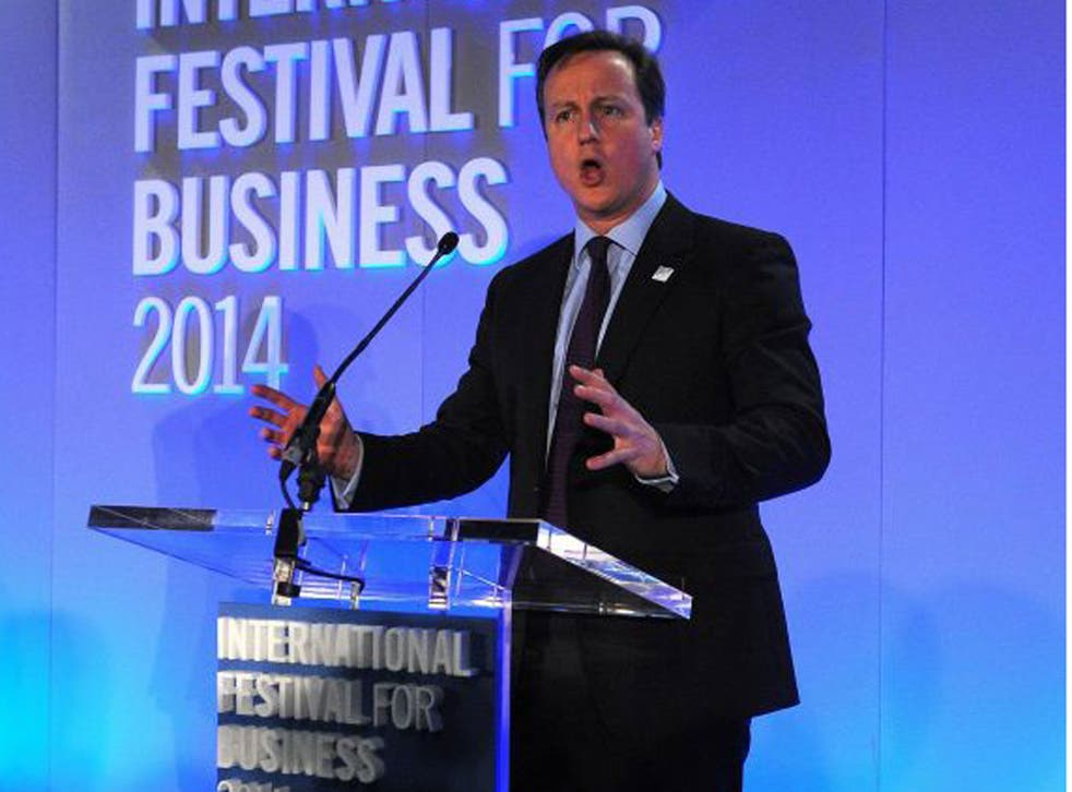 David Cameron addresses business leaders in Liverpool this week