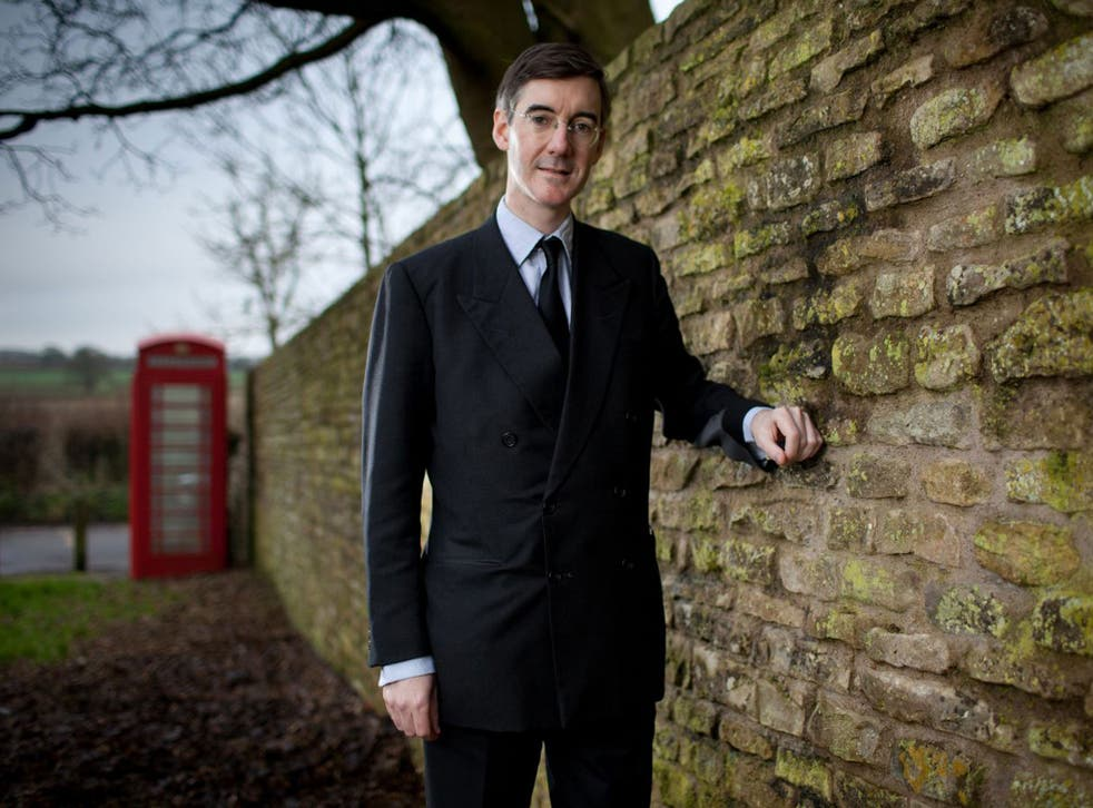 Jacob Rees-Mogg in Hinton Blewett, where he grew up, and is now MP