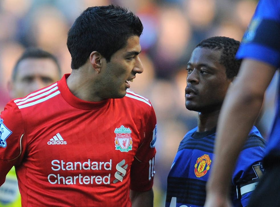 <b>October 2011:</b> Suarez was alleged to have racially abused Manchester United's Patrice Evra during a Premier League match. Suarez was later found guilty by an independent regulatory commission and banned for eight matches and fined £40,000.