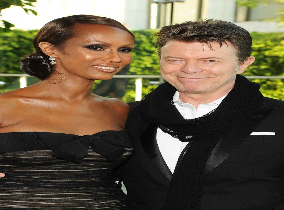 Iman and David Bowie in 2010