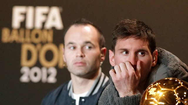 <b>Andres Iniesta</b><br/> There is a strong case that Andres Iniesta should have won the award in 2008, 2010 and this year. In all of those years he was the key player in Spain's success - being named the player of the tournament last summer and scoring the winning goal in the World Cup final. This year he finished third in the running for Fifa Ballon d'Or and in 2010 came second.