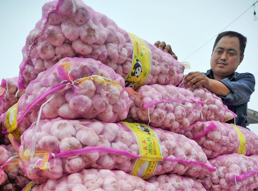 Chinese farmers have captured large swathes of the global garlic market
