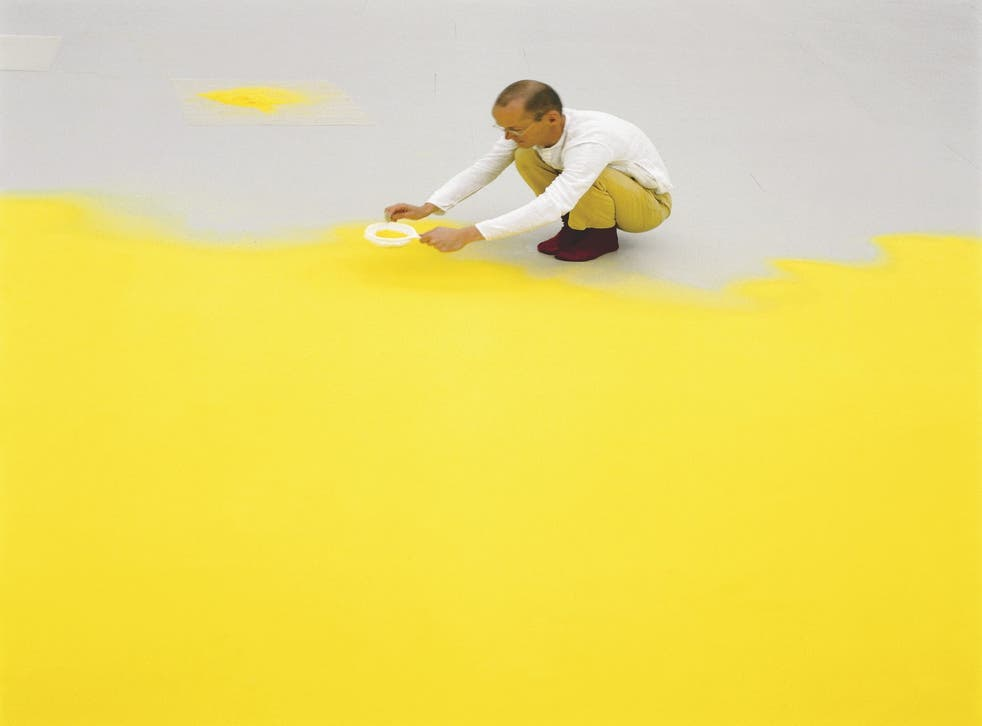 Wolfgang Laib is planning to carpet MoMA with millions of tiny pollen grains