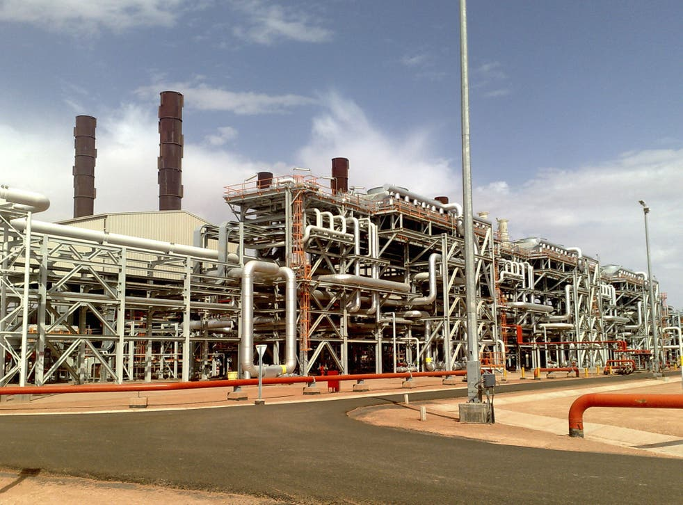 The Amenas natural gas field in the eastern central region of Algeria, where Islamist militants took hostages