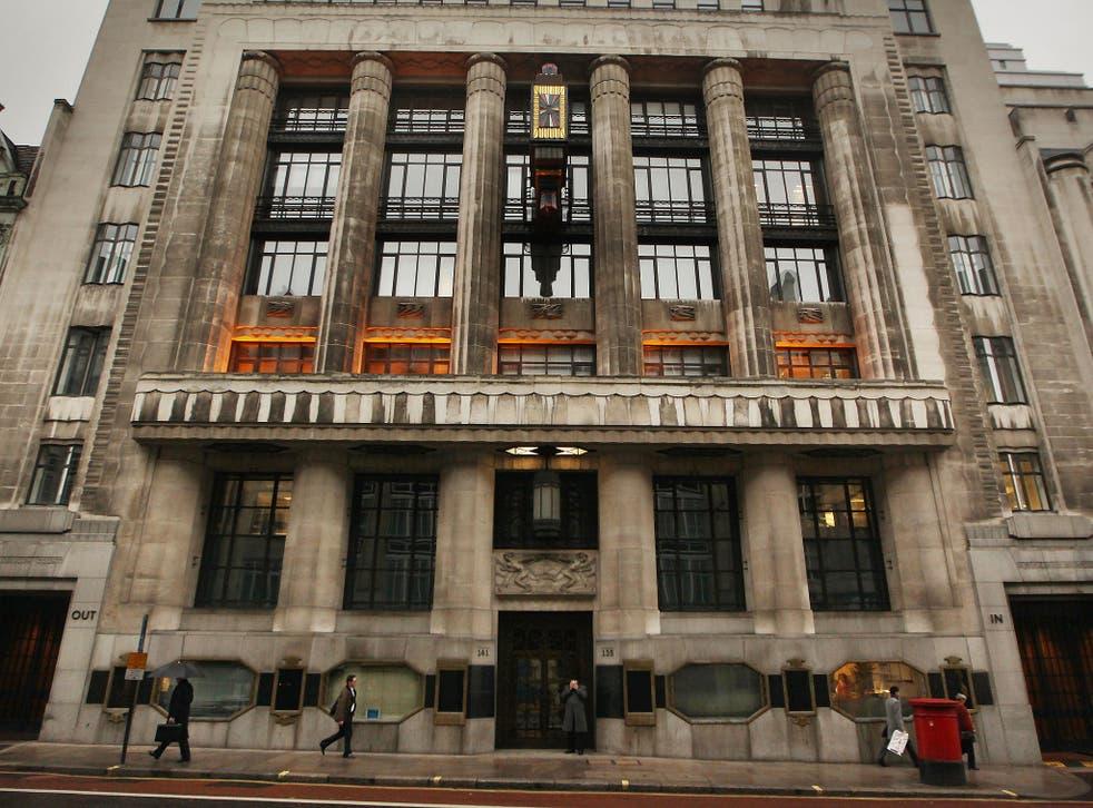 The Goldman Sachs' building in Fleet Street, London