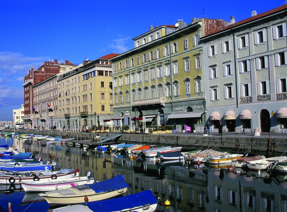 On the tick list: Trieste's Grande Canal is among those sights that Stephen Bailey hopes, one day, to see