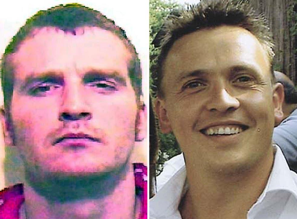 Sam Sturnham, left, who was jailed for the manslaughter of Christian Noble