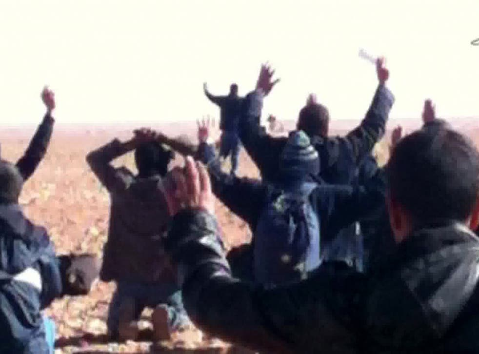 Desert capture: Algerian TV footage shows plant workers surrendering to the terrorists