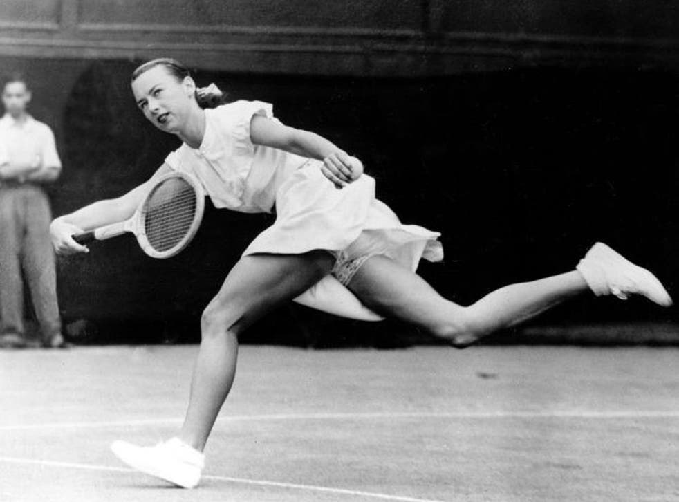 Moran at Wimbledon in 1949: 'Besides everything else, she could play,' said Jack Kramer