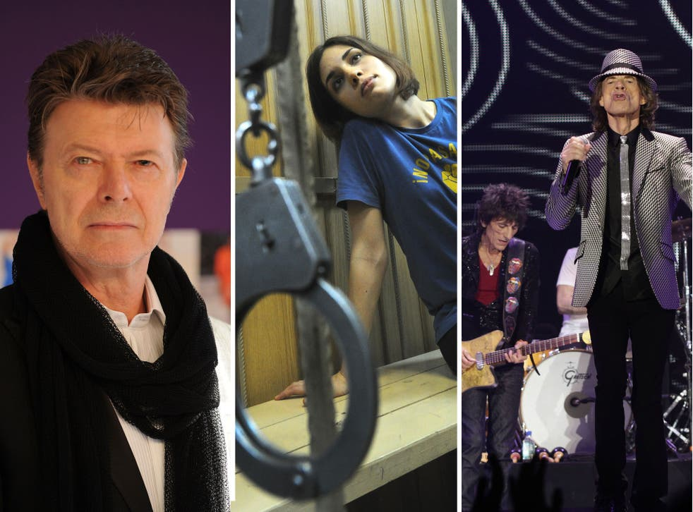 David Bowie, Pussy Riot and the Rolling Stones have all been nominated for NME awards