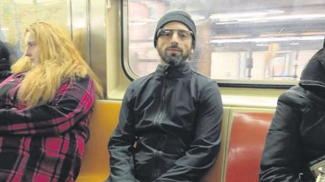 Sergey Brin spotted on New York subway wearing 'Google goggles'