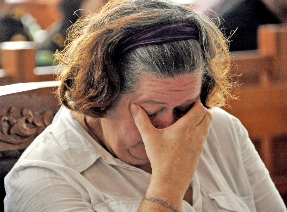 Lindsay Sandiford appearing in court in January, 2013