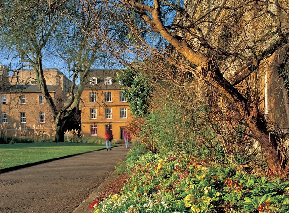 Wadham College, Oxford, where the skeleton was found