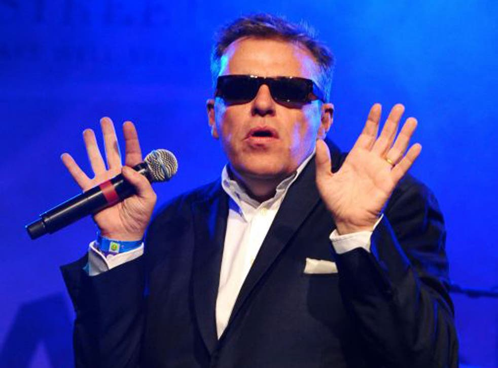 Madness singer Suggs, who is writing a memoir