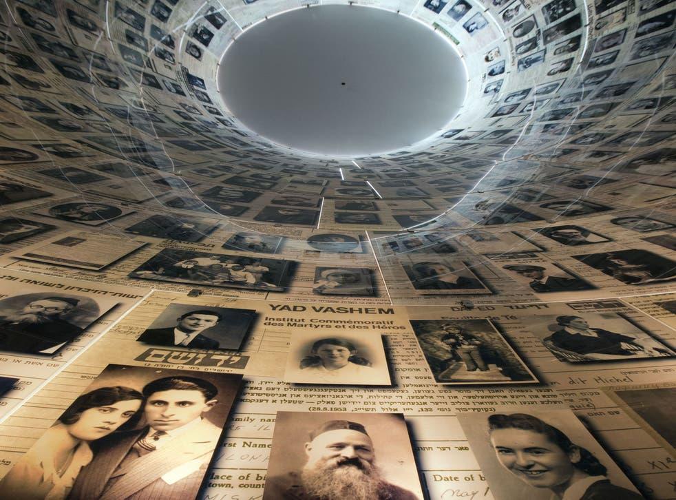 The Hall of Names at Jerusalem's Yad Vashem Holocaust Museum