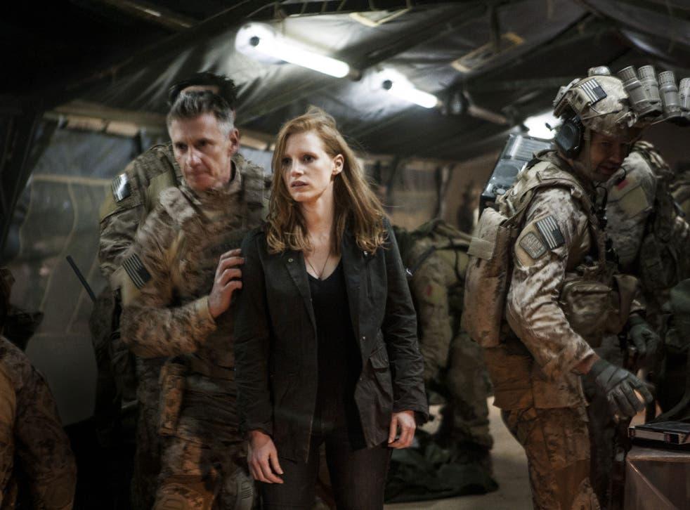 Revenge drama: Jessica Chastain, as CIA agent Maya, hardens as Bigelow's film progresses