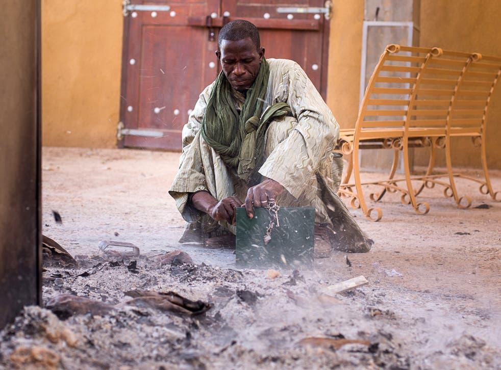 The ashes of priceless manuscripts, some of them up to 700 years old, burned by Jihadis in Mali's fabled Timbuktu