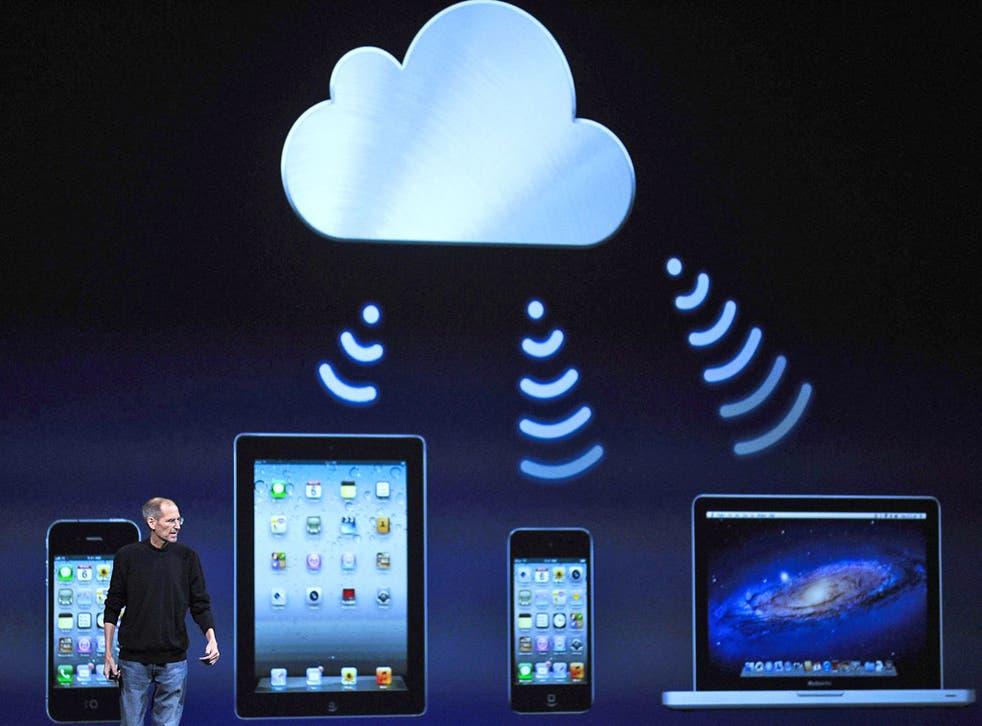 Apple founder Steve Jobs unveiling the iCloud in 2011