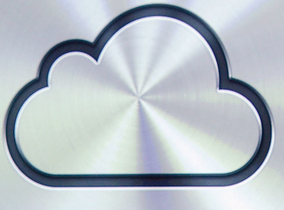 The Apple iCloud logo. The iCloud is just one of a number of similar online web storage services provided by prominent digital developers