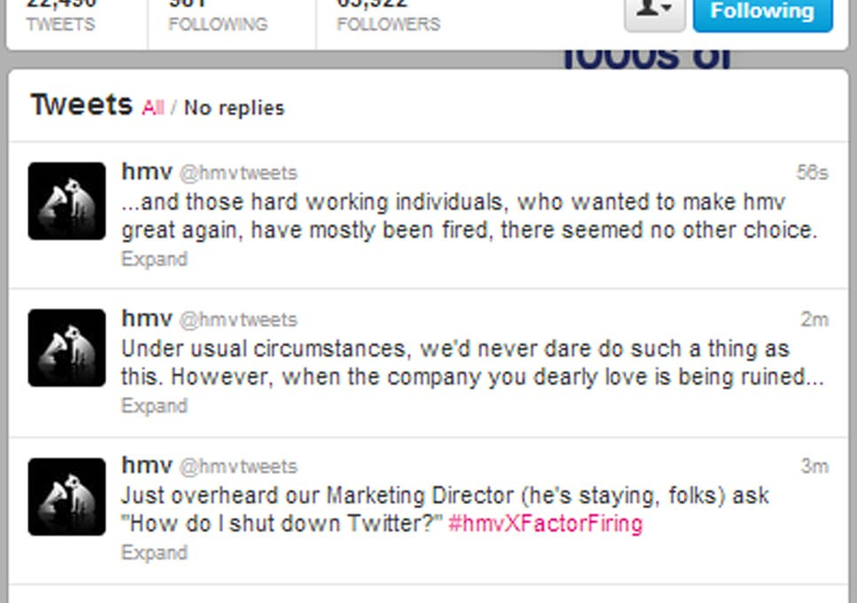 We're all being fired! Exciting!': HMV staff take to