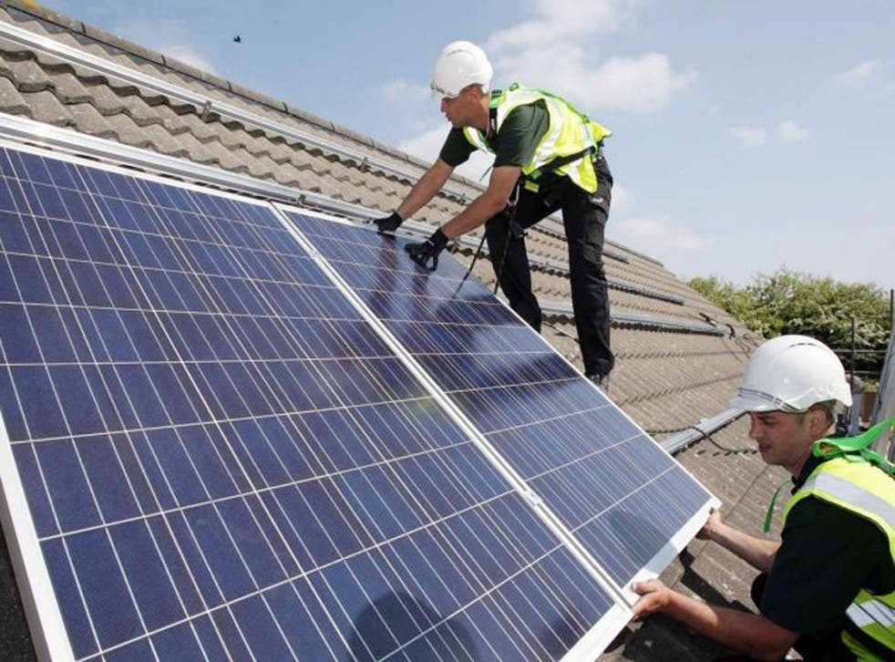 Solar panels are included in the Government's deal, aimed at reducing household costs and wastage